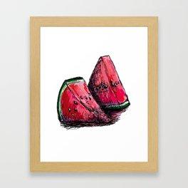 red watermelon Framed Art Print