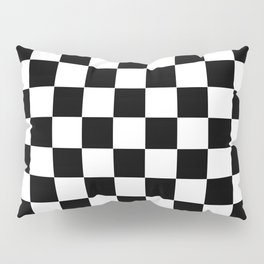 Traditional Black And White Chequered Start Flag Pillow Sham
