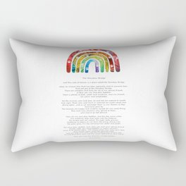 Rainbow Bridge Poem Art by Sharon Cummings Rectangular Pillow