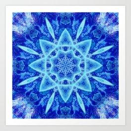 Ice Matrix Mandala Art Print