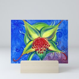 Rose Hip Watercolor Painting Mini Art Print