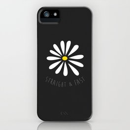 Straight & Fast (Black Paper Texture) iPhone Case