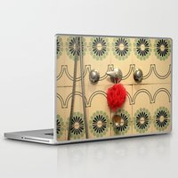 bathroom Laptop & iPad Skins featuring the vintage bathroom by Angela Bruno