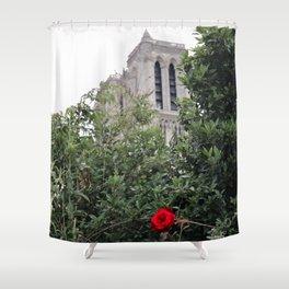 Notre Dame et la rose Shower Curtain