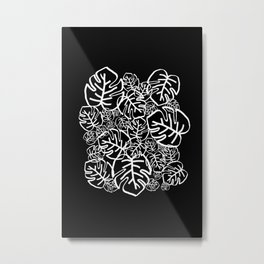 Black Palms Metal Print