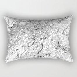 Birmingham White Map Rectangular Pillow
