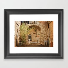 Jerusalem Archway Framed Art Print