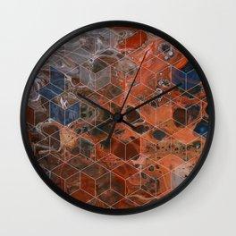Earth Cubed Wall Clock