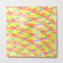 Bright Interference Metal Print