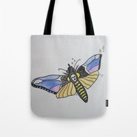 silence of the lambs Tote Bags featuring Death-Head ... Silence of the Lambs by Paxton Keating