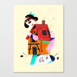 Girl in House Canvas Print