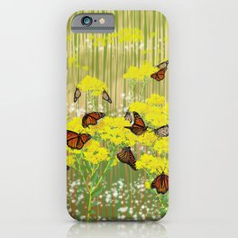 Dancing Monarchs iPhone Case