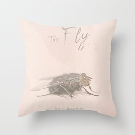 The Fly - Movie poster from David Cronenberg's classic horror film with Jeff Goldblum Throw Pillow