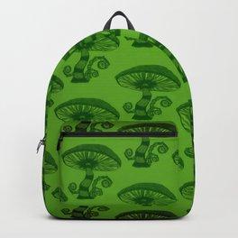 """Mushrooms in the Garden"" Alice in Wonderland Style Design by Dark Decors Backpack"