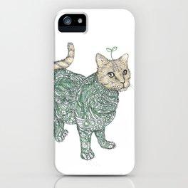 cat & grass iPhone Case