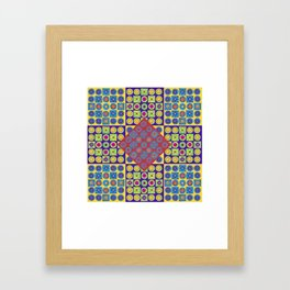 Brite Combo (Acrylic Painting on Paper No. 4) Framed Art Print
