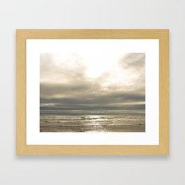 Gold-plated Shore Framed Art Print