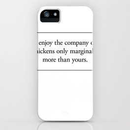 Cards for Engineers - Chickens are better people iPhone Case