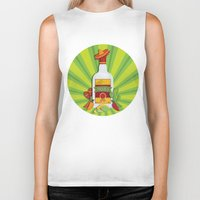tequila Biker Tanks featuring Tequila Time by Matt Andrews