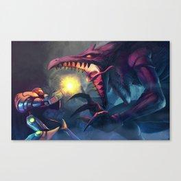 Metroid: Samus Vs. Ridley Canvas Print