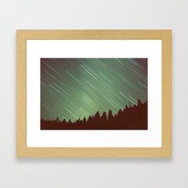 Star Trails Framed Art Print