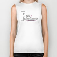 my mad fat diary Biker Tanks featuring Fat + Fabulous by Jessica Slater Design & Illustration