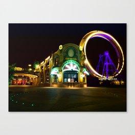 Vienna Prater at Night Canvas Print