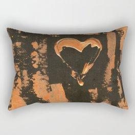 Liquid Copper Heart Rectangular Pillow