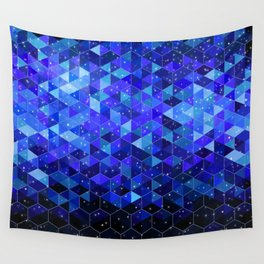 Space blue Wall Tapestry