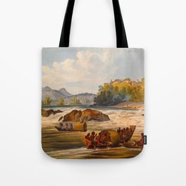 Brazilian Fort St Cabriel Illustrations Of Guyana South America Natural Scenes Hand Drawn Tote Bag