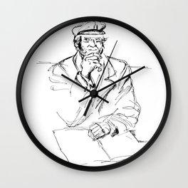Man in cogitation Wall Clock