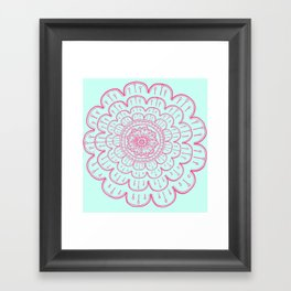 blue&pink Framed Art Print