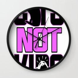 Cats Not Kids Wall Clock
