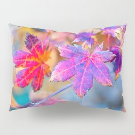 Beautiful Japanese Maple Tree Leaves In Autumn Pillow Sham
