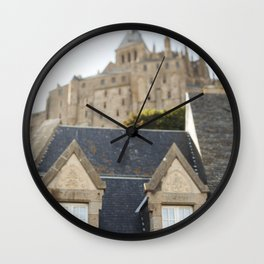 Like a City on a Hill - travel photography Wall Clock