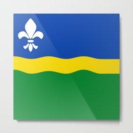 Flag of Flevoland Metal Print