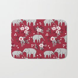 Alabama university crimson tide elephant pattern college sports alumni gifts Bath Mat