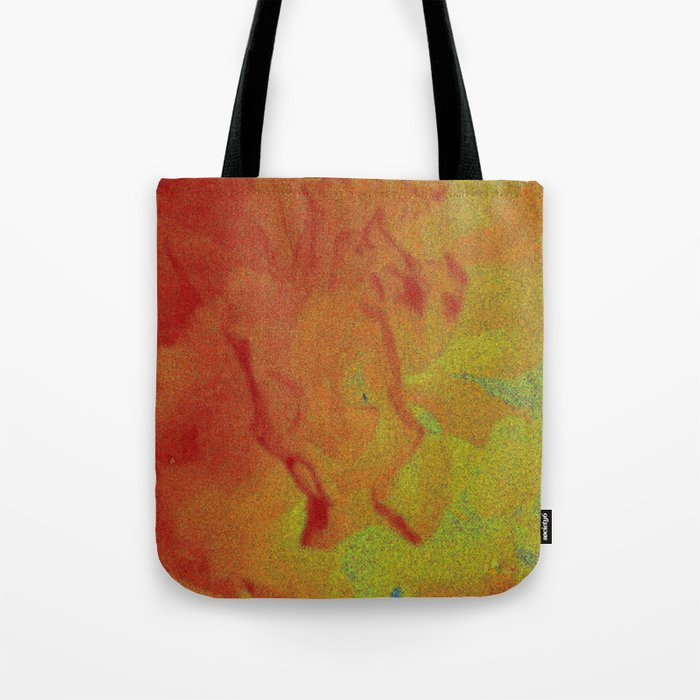 Flower | Flowers | Fading Flower | Red Abstract Tote Bag