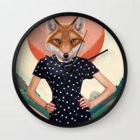 polkadot Wall Clocks featuring Polkadot by Hagara Stuff