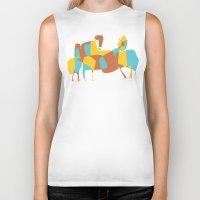 horses Biker Tanks featuring Horses by Pablo Correa