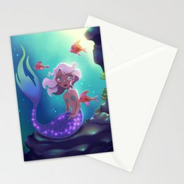 Mermaid with Short Lavender Hair Stationery Cards