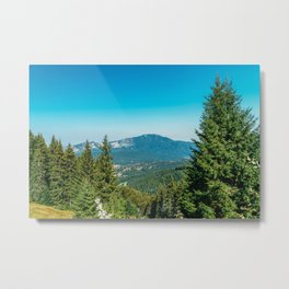 Mountains Landscape, Travel, Summer Landscape, Transylvania Mountains, Forests Of Romania Metal Print