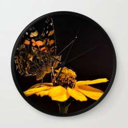 Zinnia Sipping Wall Clock