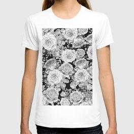 ROSES ON DARK BACKGROUND T-shirt