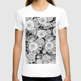 ROSES ON DARK BACKGROUND T-shirt