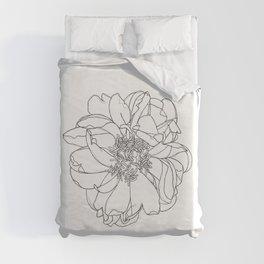 Single flower botanical illustration - Orla Duvet Cover