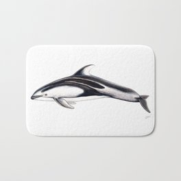 Pacific white-sided dolphin Bath Mat