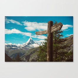 The Matterhorn Valais Switzerland Canvas Print