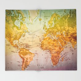 Colorful World Throw Blanket