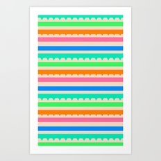 summer stripes Art Print